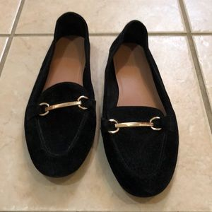 Topshop Faux suede loafers
